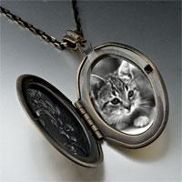 Necklace & Pendants - cat in black &  white pendant necklace Image.