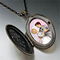 Necklace & Pendants - wedding cake couple pendant necklace Image.