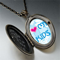 Necklace & Pendants - i heart kids photo pendant necklace Image.