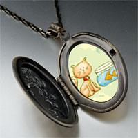 Necklace & Pendants - cat goldfish pendant necklace Image.