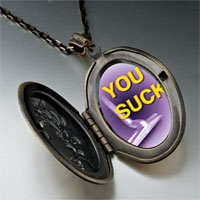 Necklace & Pendants - purple suck pendant necklace Image.