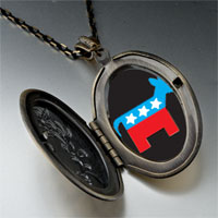 Necklace & Pendants - democrat donkey black pendant necklace Image.