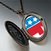 Necklace & Pendants - blue red republican elephant pendant necklace Image.