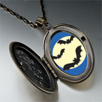 Necklace & Pendants - bats full moon pendant necklace Image.