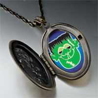 Necklace & Pendants - green face frankenstein pendant necklace Image.