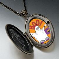 Necklace & Pendants - boo halloween ghost costume orange pendant necklace Image.