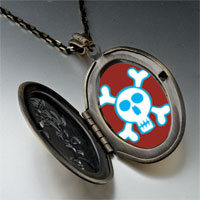 Necklace & Pendants - halloween skull crossbones pendant necklace Image.