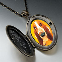 Necklace & Pendants - basset hound dog photo pendant necklace Image.