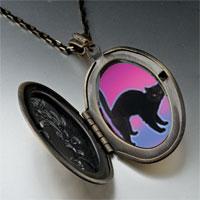 Necklace & Pendants - black cat arched back pendant necklace Image.