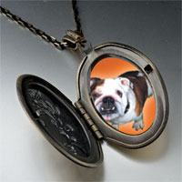 Necklace & Pendants - brown white bulldog pendant necklace Image.