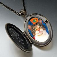 Necklace & Pendants - white striped cat pendant necklace Image.