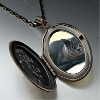 Necklace & Pendants - grey cat pendant necklace Image.