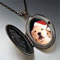 Necklace & Pendants - puppy santa pendant necklace Image.