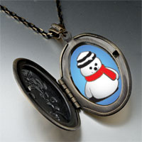 Necklace & Pendants - pendants christmas gifts snowman red scarf pendant necklace Image.