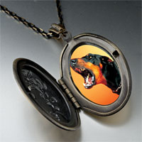 Necklace & Pendants - barking dog pendant necklace Image.