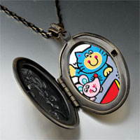 Necklace & Pendants - cat mouse cartoon pendant necklace Image.