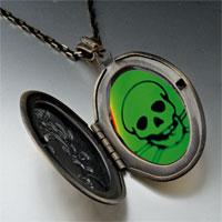 Necklace & Pendants - halloween skull crossbones poison pendant necklace Image.