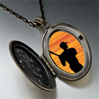 Necklace & Pendants - baseball player silhouette pendant necklace Image.
