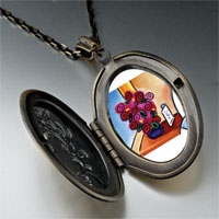 Necklace & Pendants - vase flowers pendant necklace Image.