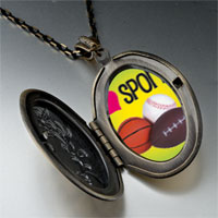Necklace & Pendants - heart sports pendant necklace Image.