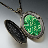Necklace & Pendants - kiss i' m irish pendant necklace Image.