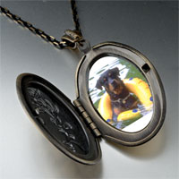 Necklace & Pendants - dog swimming floaty pendant necklace Image.