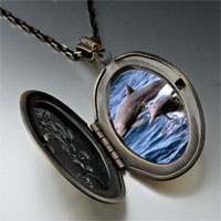 Necklace & Pendants - dolphin family photo pendant necklace Image.