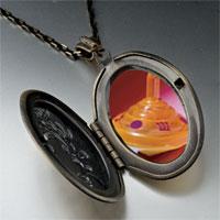 Necklace & Pendants - plastic orange dreidel pendant necklace Image.