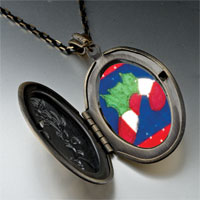 Necklace & Pendants - halloween candy cane quilt square pendant necklace Image.