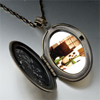 Necklace & Pendants - necklace christmas gifts snowman by window pendant necklace Image.