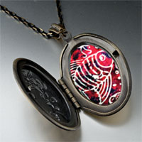 Necklace & Pendants - fish on red pendant necklace Image.