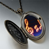 Necklace & Pendants - music note g treble clef photo pendant necklace Image.