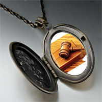 Necklace & Pendants - judge' s tool gavel pendant necklace Image.