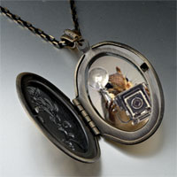 Necklace & Pendants - squirrel taking photos pendant necklace Image.