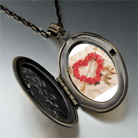 Necklace & Pendants - rose heart wreath arrow pendant necklace Image.