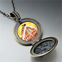 Necklace & Pendants - christmas gingerbread house photo locket pendant necklace Image.