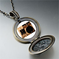 Necklace & Pendants - rock roll drums photo locket pendant necklace Image.