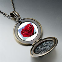 Necklace & Pendants - red rose in sunshine photo locket pendant necklace Image.
