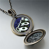 Necklace & Pendants - flute music photo locket pendant necklace Image.