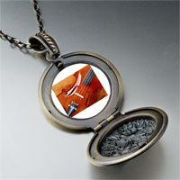 Necklace & Pendants - first chair violin photo locket pendant necklace Image.