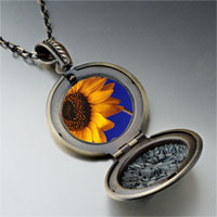 Necklace & Pendants - yellow sunflower photo locket pendant necklace Image.