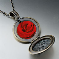 Necklace & Pendants - dew drop rose photo locket pendant necklace Image.