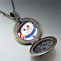 Necklace & Pendants - necklace christmas gifts snowman halloween candy cane photo locket pendant necklace Image.