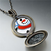 Necklace & Pendants - necklace sunset christmas gifts snowman photo locket pendant necklace Image.