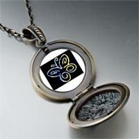 Necklace & Pendants - butterfly outline photo locket pendant necklace Image.