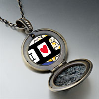 Necklace & Pendants - i heart popcorn photo locket pendant necklace Image.