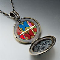 Necklace & Pendants - colorful butterfly print photo locket pendant necklace Image.