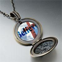 Necklace & Pendants - believe cross photo locket pendant necklace Image.