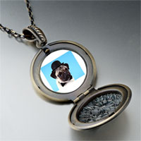 Necklace & Pendants - dog in a derby hat photo locket pendant necklace Image.