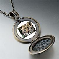 Necklace & Pendants - baby leopard cub photo locket pendant necklace Image.